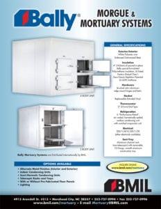 Morgue Freezer & Refrigerator Brochure